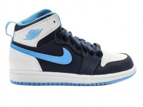 Air Jordan 1 High Preschool Lifestyle Shoe (Blue/White)