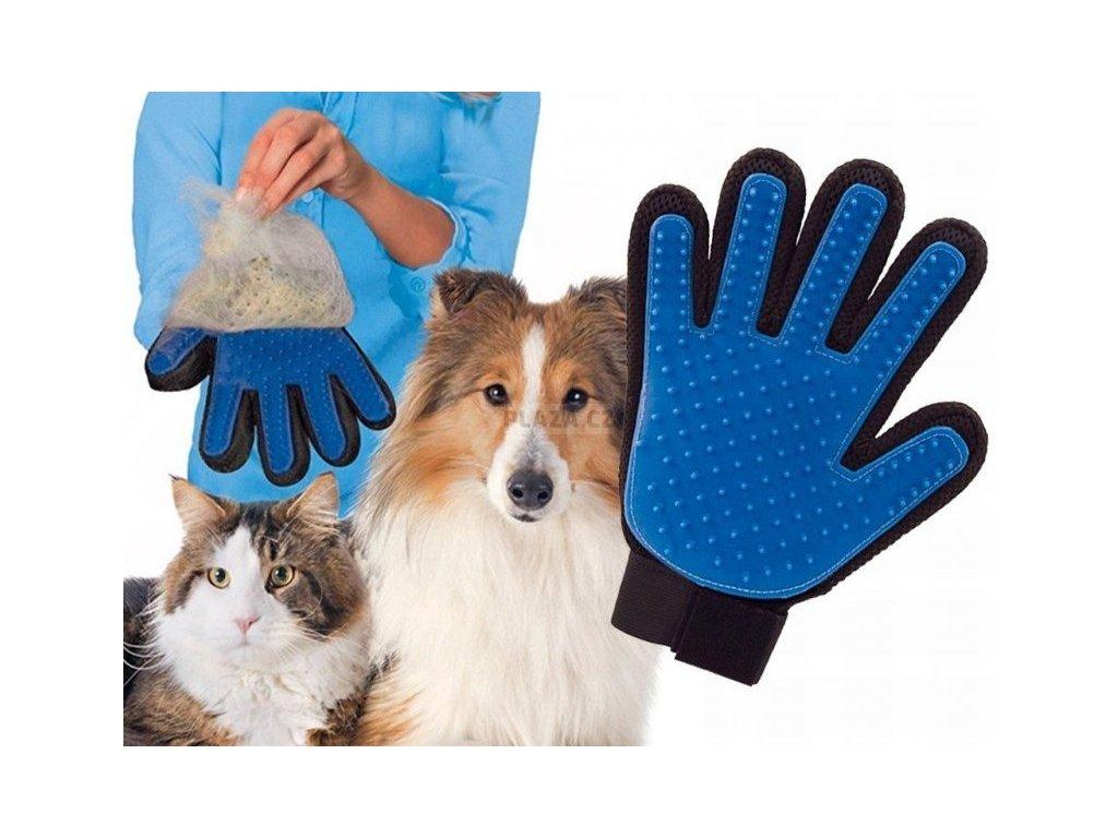 TrueTouch Masážní rukavice pro vyčesávaní zvířecí srsti