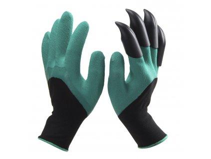 Zahradní rukavice s plastovými drápy