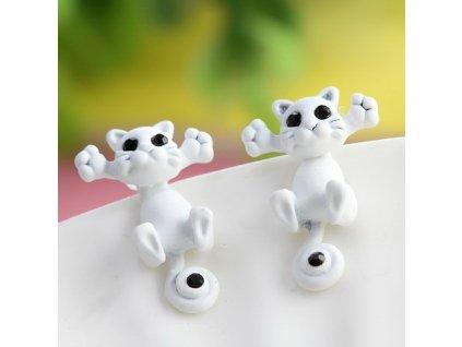 3D náušnice Kočička