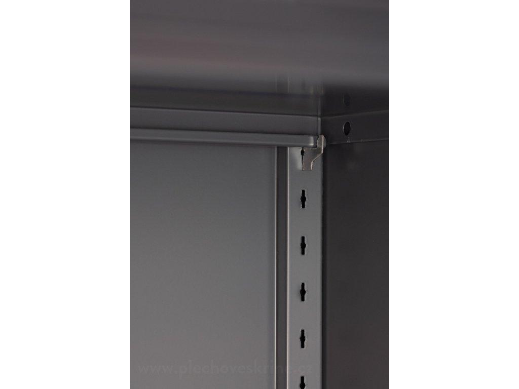 Plechová skříň policová v1850 x š900 x h400 - 1mm