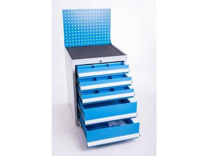 Zásuvková skříň v800 x š600 x h600, 5 zásuvek