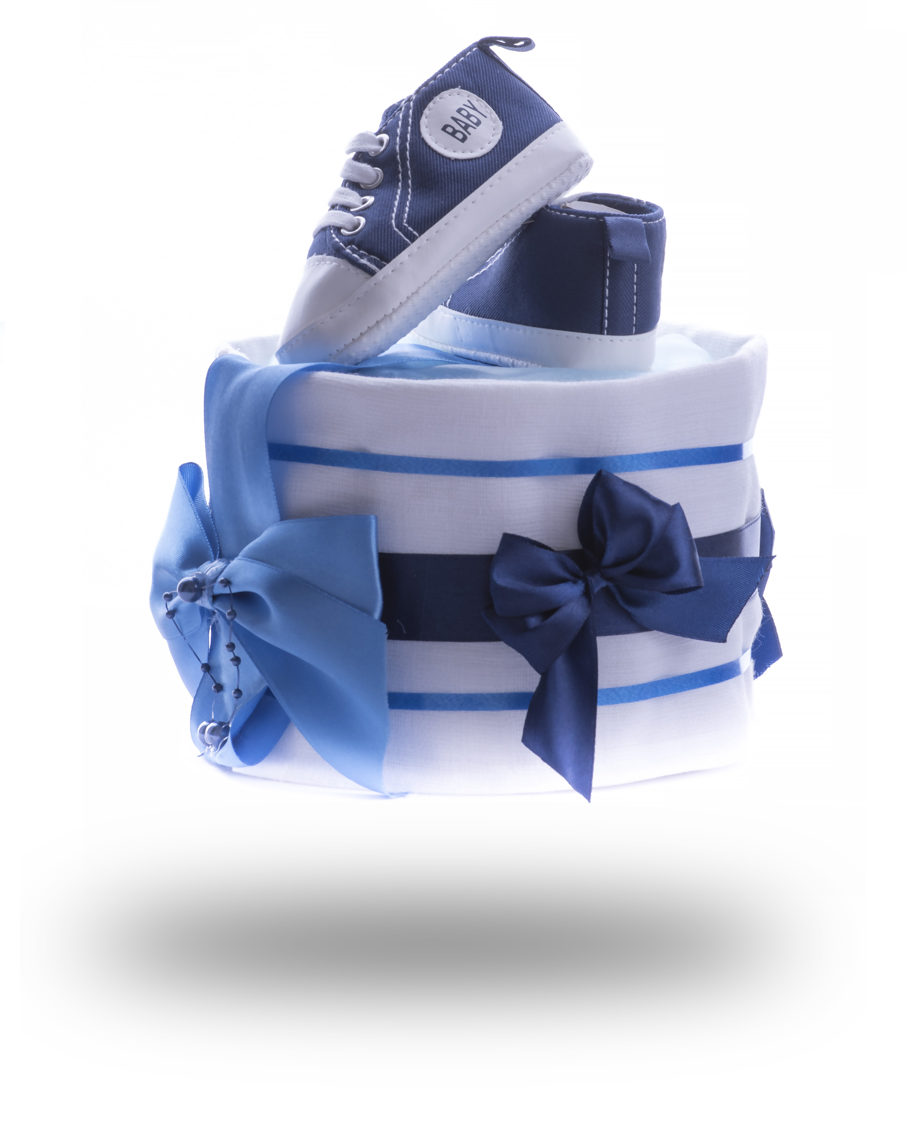 Jednopatrový plenkový dort mini pro kluky