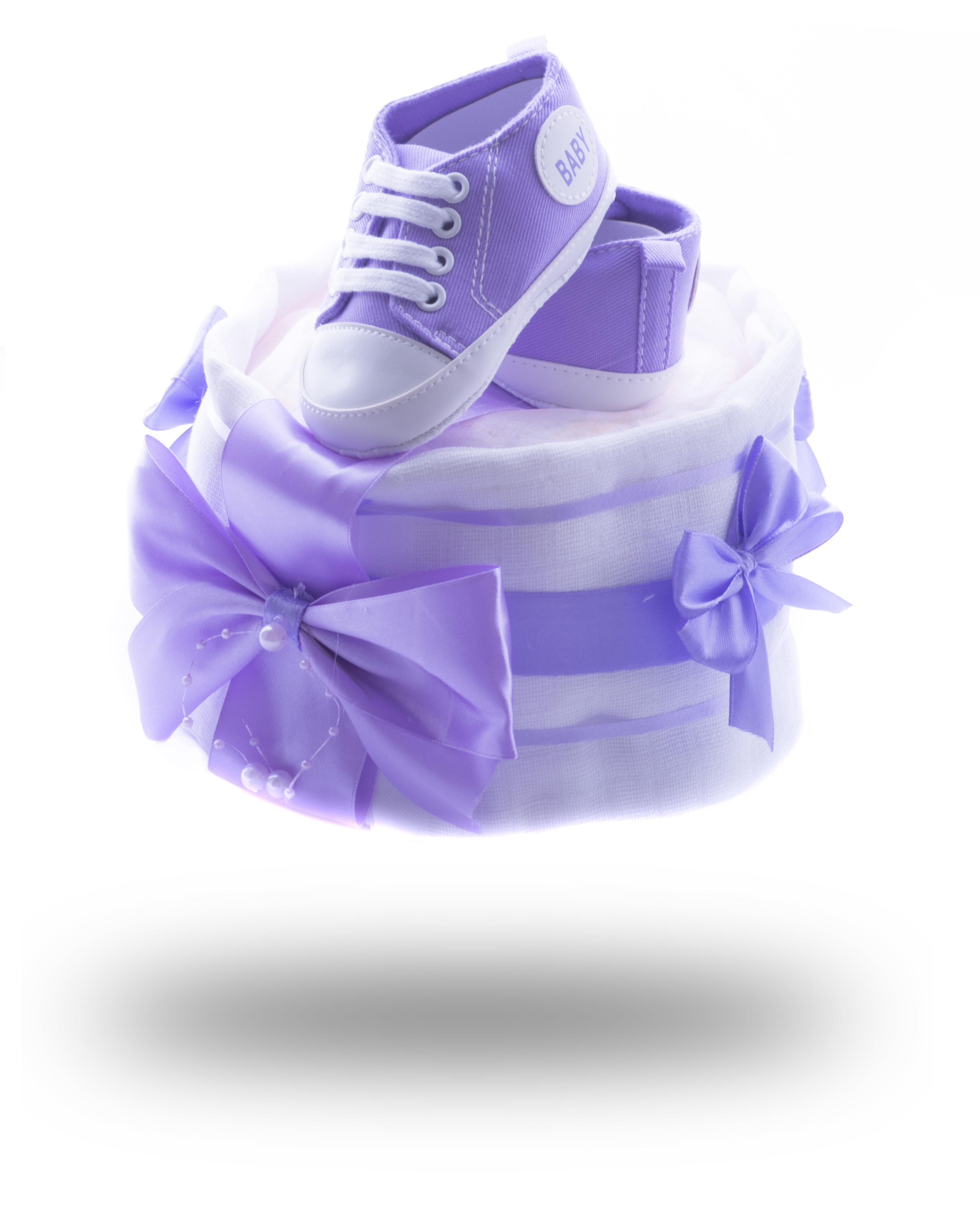 Jednopatrový plenkový dort mini pro princezny