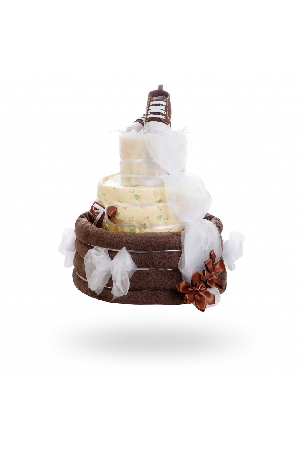 Třípatrový plenkový dort – čokoláda1