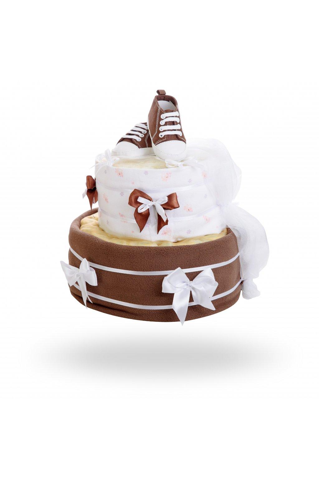 Dvoupatrový plenkový dort čokoláda