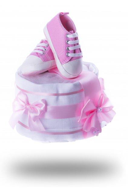 plenkový dort růžový mini