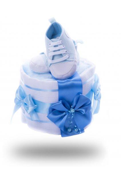 jednopatrový dort z plenek mini