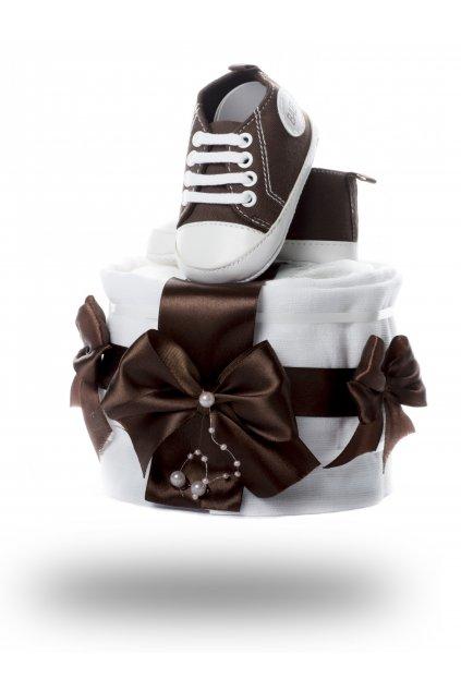 Jednopatrový plenkový dort