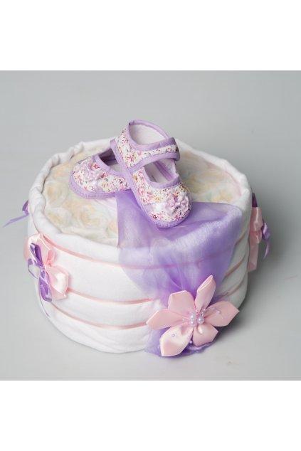 Jednopatrový plenkový dort pro dívky special