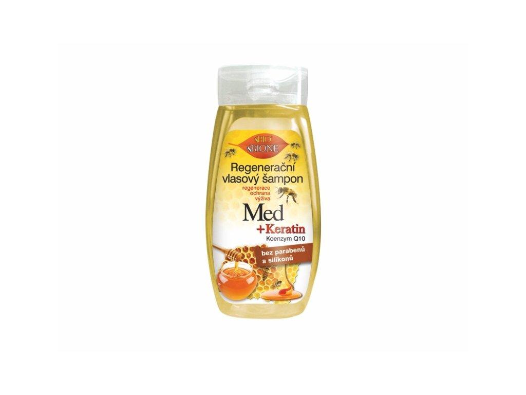 Bione Cosmetics s regenerační vlasový šampon MED + KERATIN + Q10 260 ml