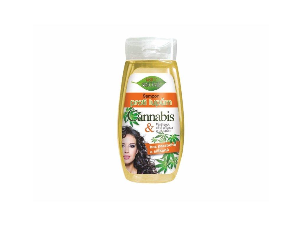 Bione Cosmetics Šampon proti lupům CANNABIS pro ženy 260 ml