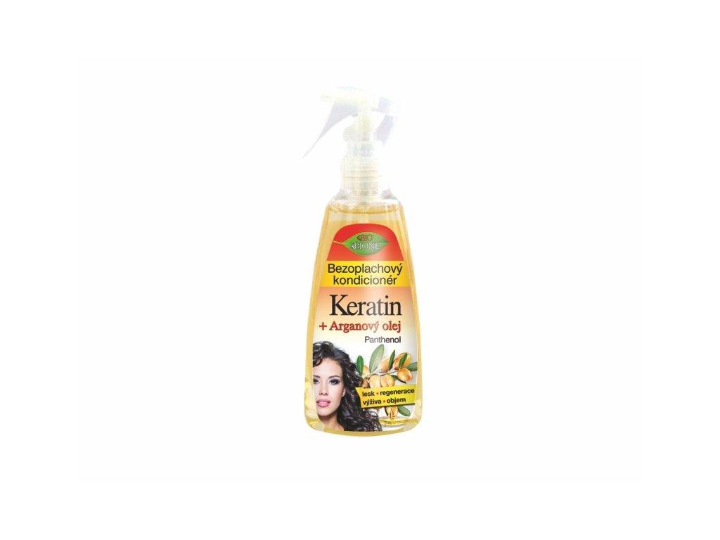 Bione Cosmetics s bezoplachový kondicionér Keratin + Arganový olej, 260 ml