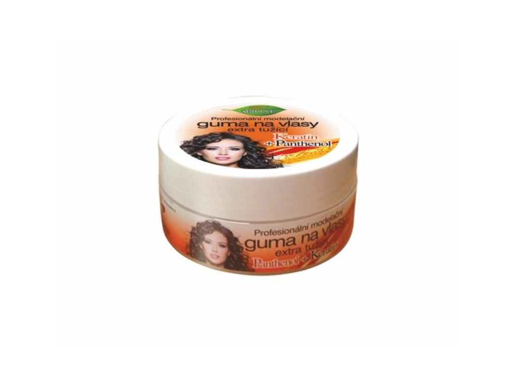 Bione Cosmetics s Keratin + Panthenol Profesionální modelační guma na vlasy extra tužící 150 ml