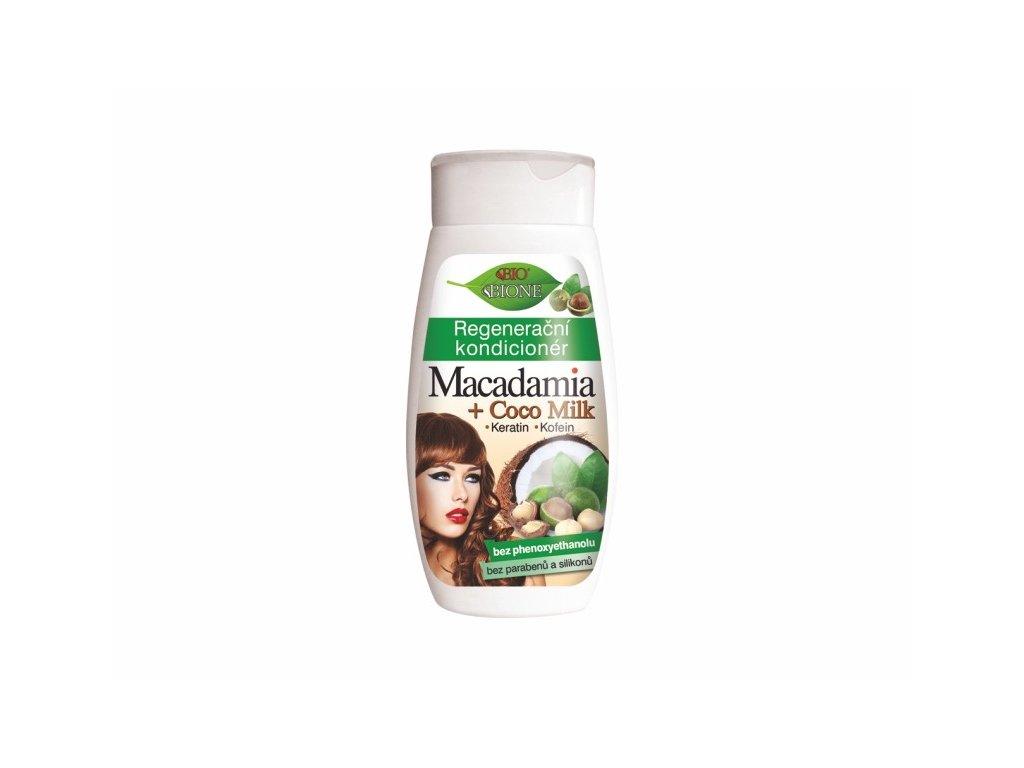 Bione Cosmetics Bio MACADAMIA + COCO MILK Regenerační kondicionér 260 ml s