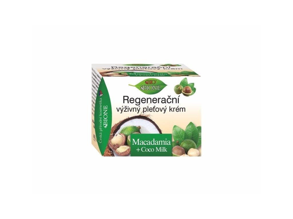 Bione Cosmetics Regenerační pleťový krém Macadamia + Coco milk 51 ml s