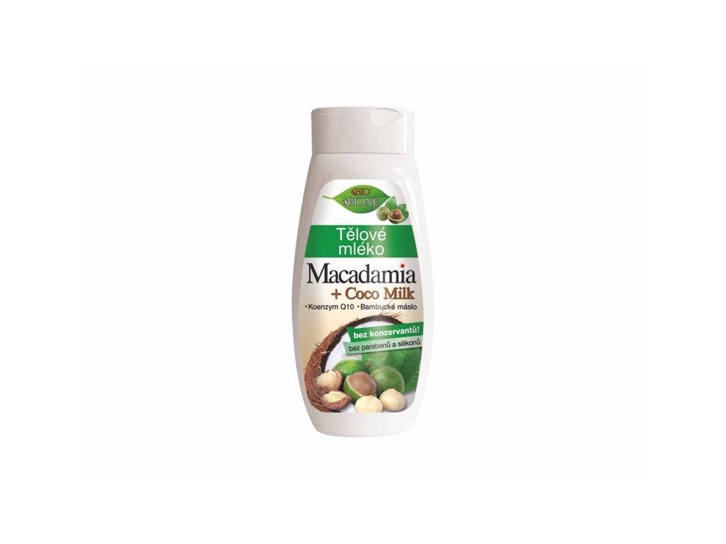 Bione Cosmetics Bio Tělové mléko MACADAMIA + COCO MILK 400 ml