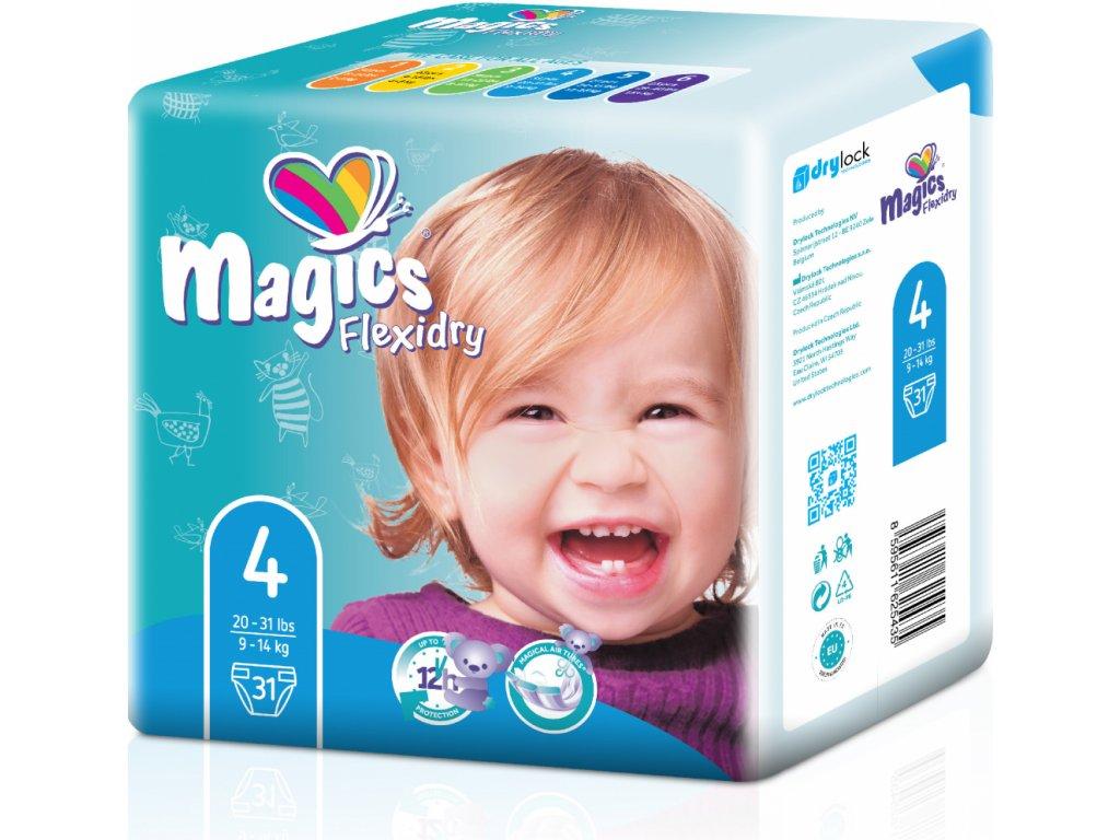 Magics Flexidry 4 Maxi, 9-14 kg, 31 ks