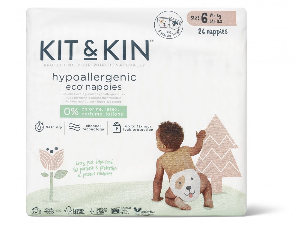 Size6 Nappies Packaging Front