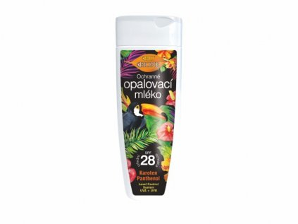Bione Cosmetics Ochranné opalovací mléko SPF 28, 200 ml