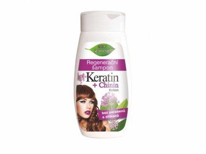 Bione Cosmetics s regenerační šampon KERATIN + CHININ 260 ml