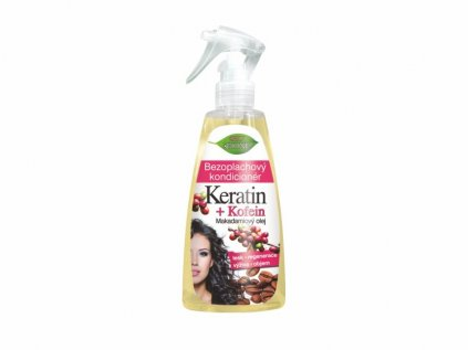 Bione Cosmetics s bezoplachový kondicionér ve spreji Keratin + Kofein 260 ml