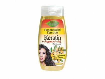 Bione Cosmetics s regenerační šampon s keratinem a arganovým olejem 260 ml