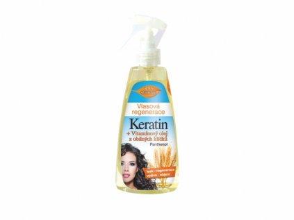 Bione Cosmetics s Vlasová regenerace KERATIN + VITAMÍNOVÝ OLEJ Z OBILNÝCH KLÍČKŮ 260 ml