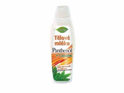 Bione Cosmetics s Panthenol + Cannabis tělové mléko 500 ml