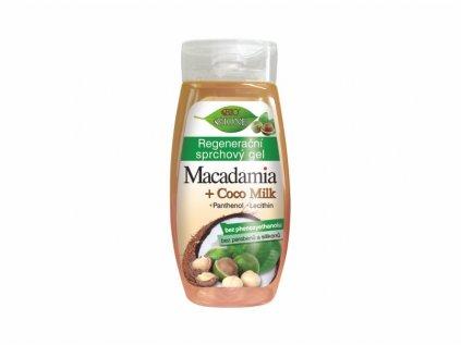 Bione Cosmetics Bio MACADAMIA + COCO MILK 260 ml Regenerační sprchový gel s