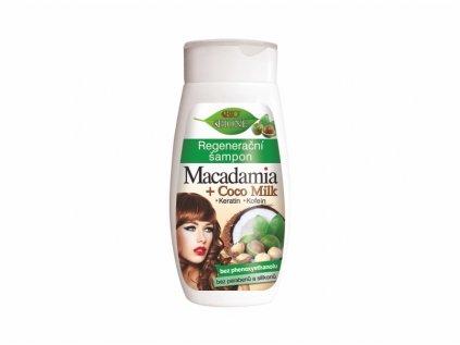 Bione Cosmetics Regenerační šampon BIO Macadamia + Coco milk s 260 ml