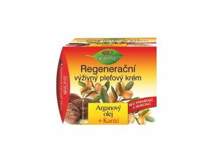 Bione Cosmetics Výživný pleťový krém s argonovým olejem, bambuckým máslem (karité) a s koenzymem Q10 51 ml