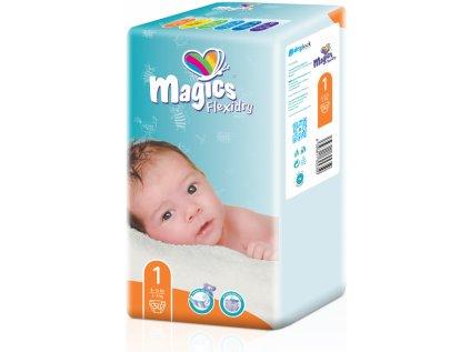 Magics Flexidry 1 Newborn, 2-5 kg, 50 ks