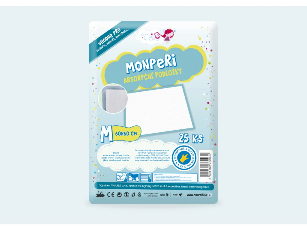 Hygienické podložky na přebalovaní