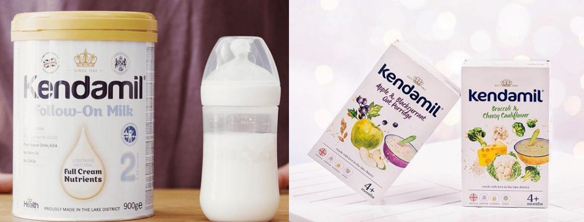 Kojenecká mléka a kaše Kendamil