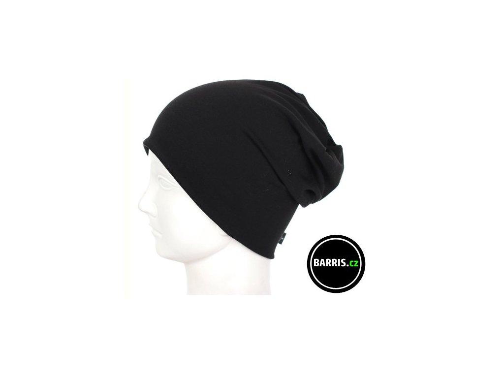 Dětská čepice - velikost S - černá