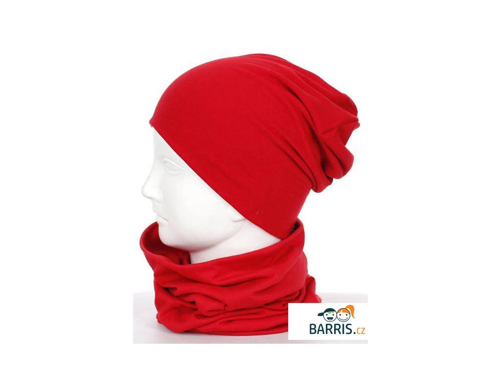 Dětská čepice - velikost XS - červená