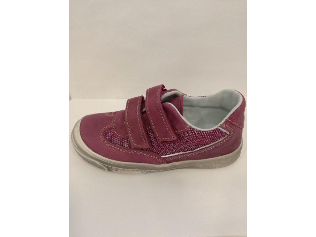 Celoroční kožená obuv Jonap 023 M vínová (Velikost 29)