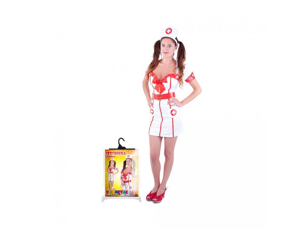 Karnevalový kostým pro dospělé slečna zdravotnice (M)