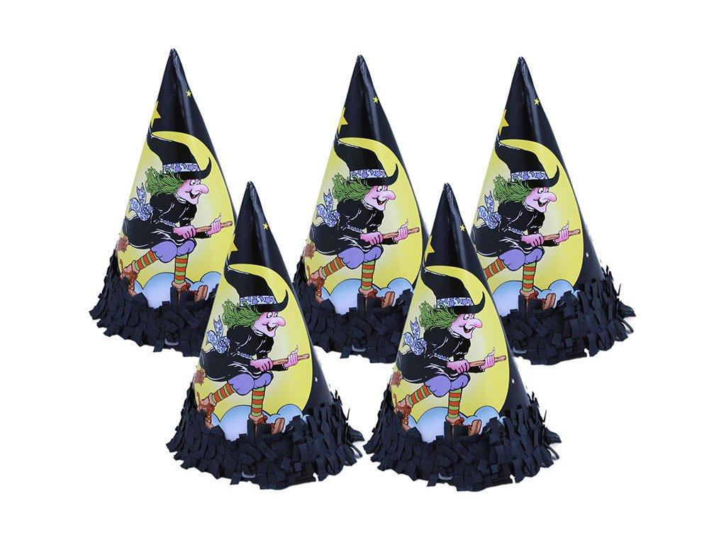 Klobouček papírový čarodějnice 6 ks v sáčku