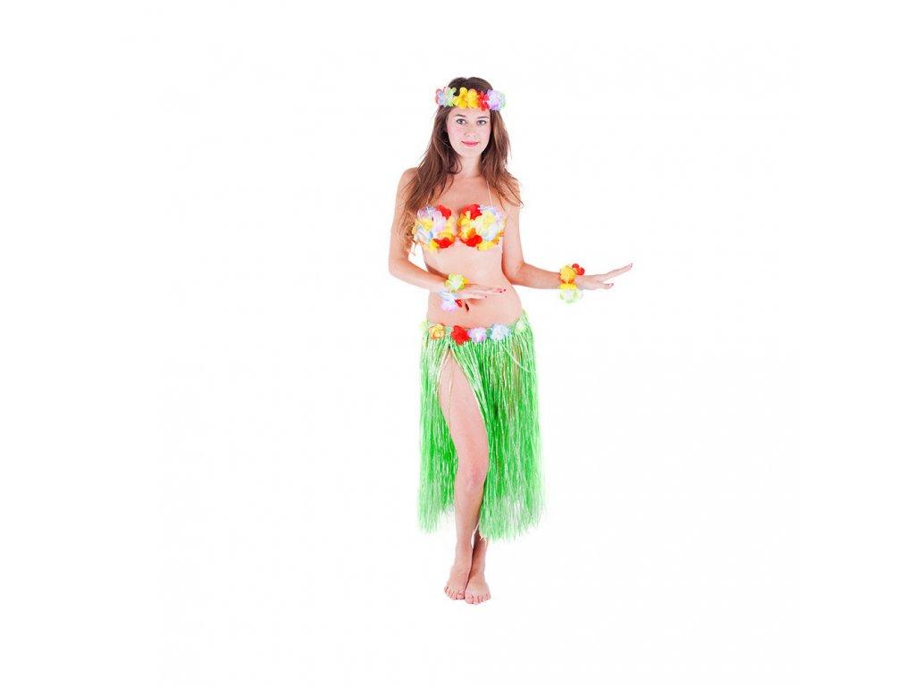 Sukně Hawaii zelená pro dospělé 72 cm
