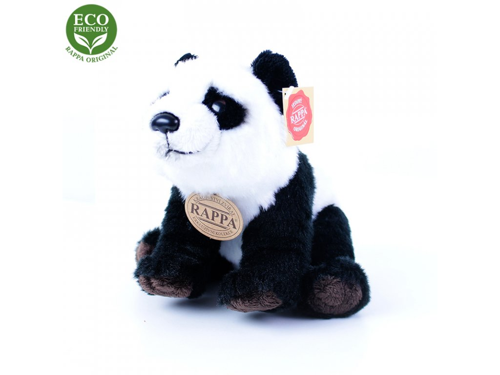 Plyšová panda sedící nebo stojící 22 cm ECO-FRIENDLY