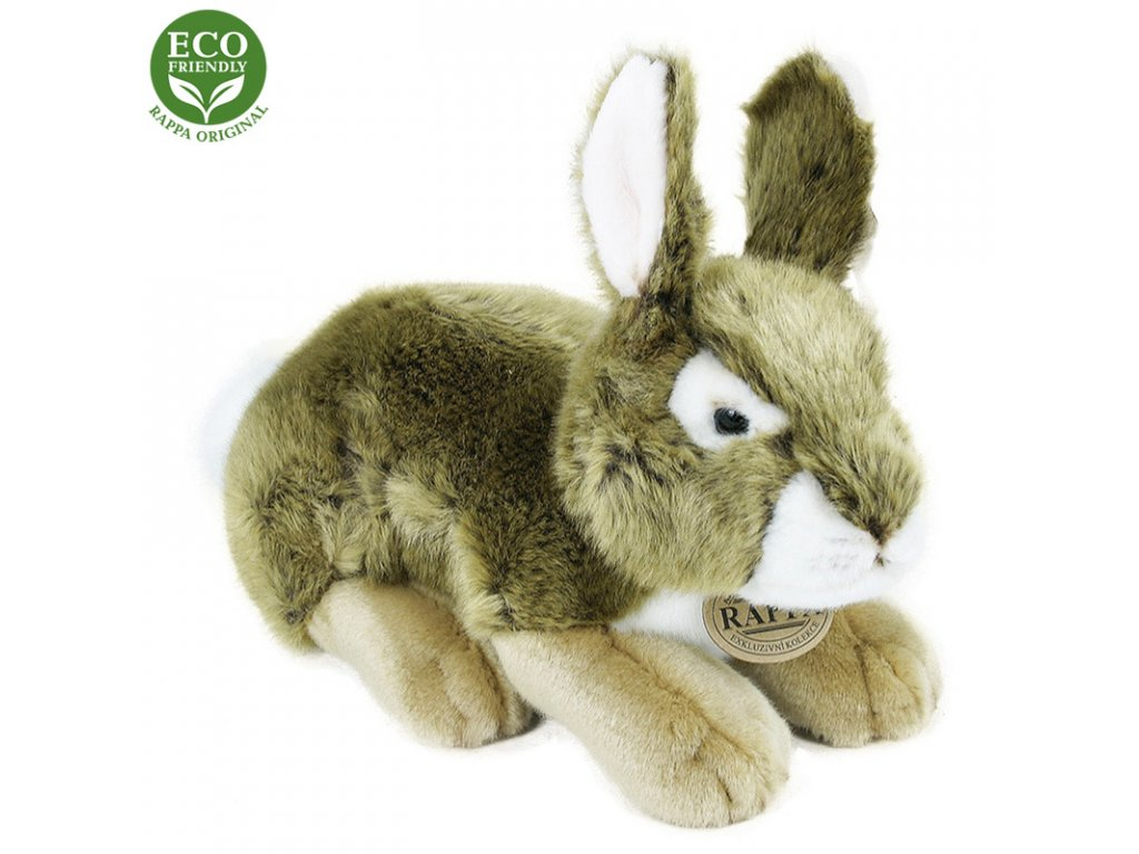 Plyšový králík šedý 25 cm ECO-FRIENDLY