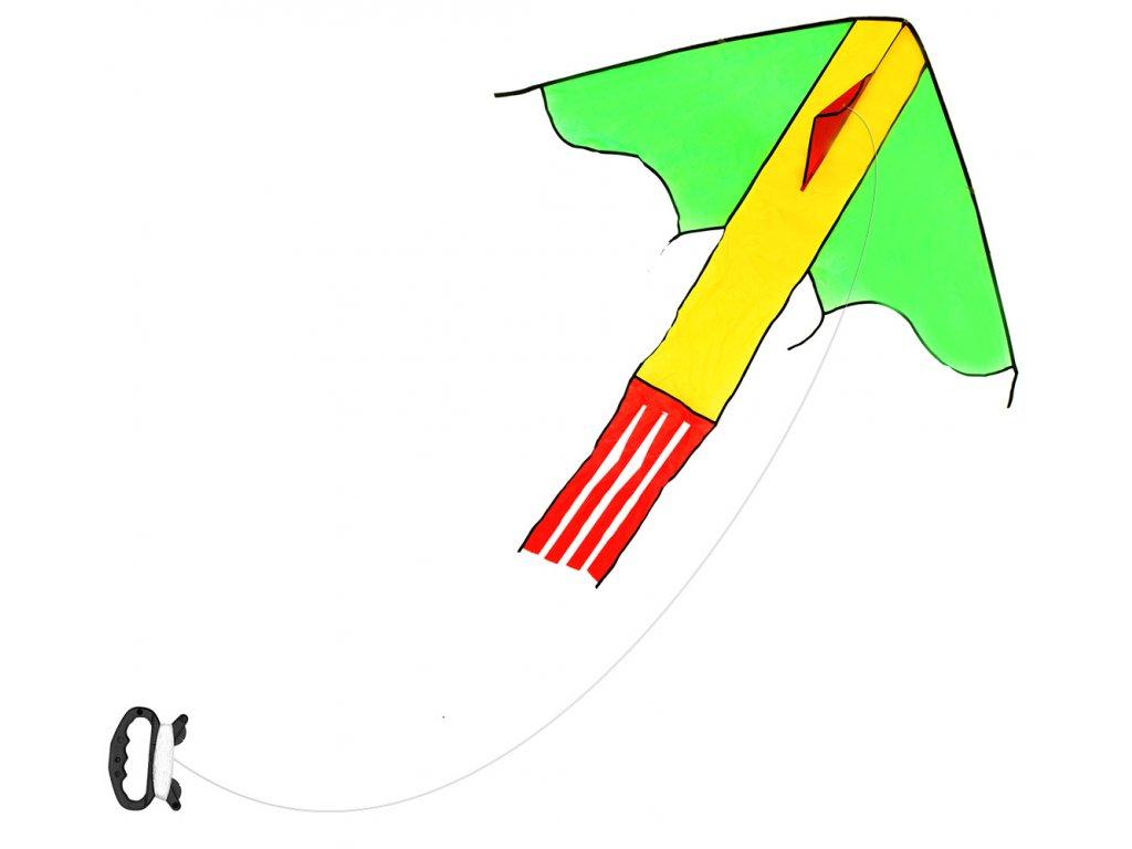Létající drak nylonový 118 x 98 cm