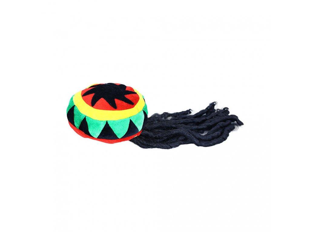 Čepice Rastaman s dredy pro dospělé