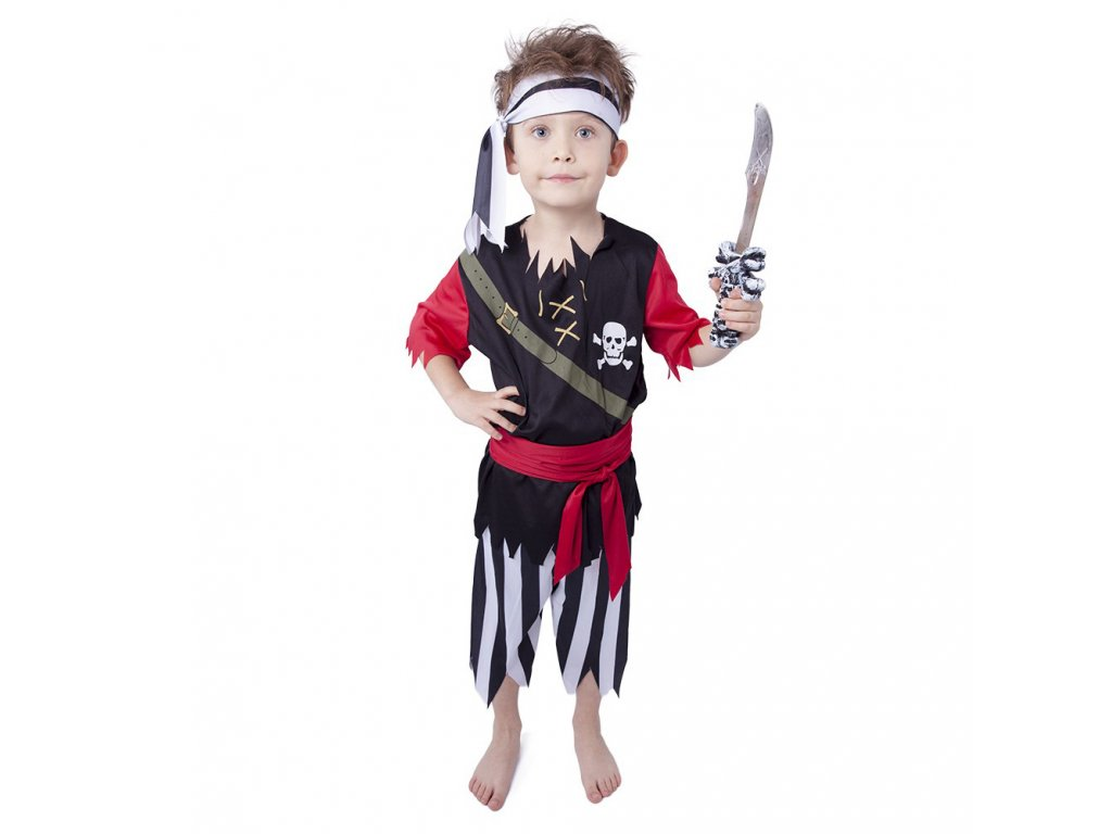 Dětský kostým pirát se šátkem (M)
