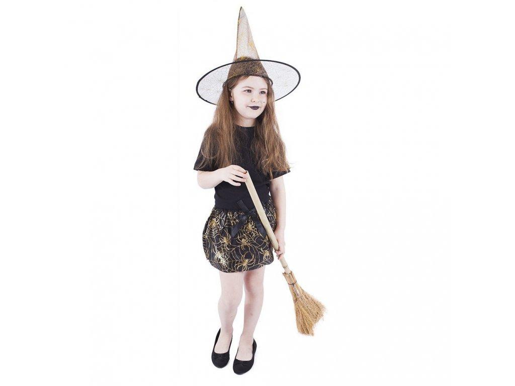 Dětský kostým tutu sukně s kloboukem Halloween