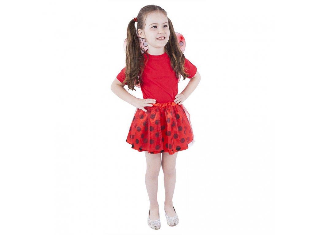 Dětský kostým tutu sukně beruška s křídly