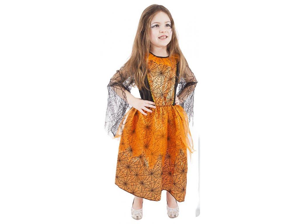 Dětský kostým Halloween oranžový (S)