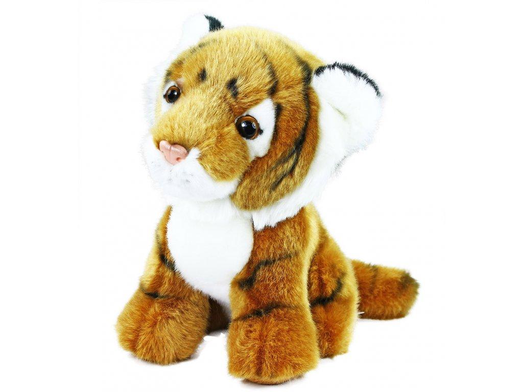 Plyšový tygr sedící 18 cm